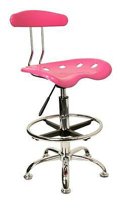 Chrome Base Drafting Stool with Circular Foot Rest [ID 3064601]