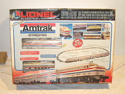 Lionel 027 #6-11748 Amtrak Big Rugged Ready-To-Run Train Set, Complete, Ob