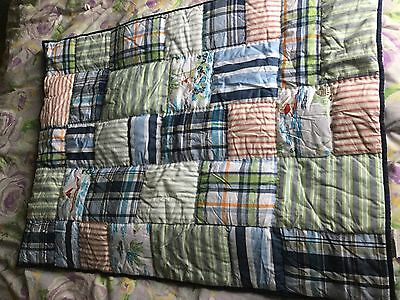 Pottery Barn Kids Blue Boy's Lahaina Island Toddler Quilt NWOT