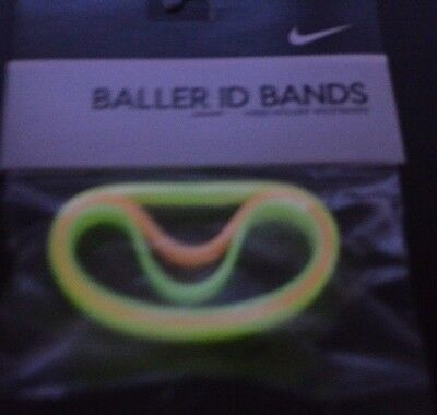 Vintage NIKE ID BALLER BANDS - Glow in The Dark - Yellow, Pink, Green - New