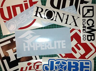 Wakeboard Sticker Pack Wake Decal Stickers like KGB Malibu Hyperlite CWB Tige