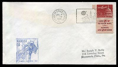 Space - Gemini 10 - launch cover with scarce blue NASA cachet