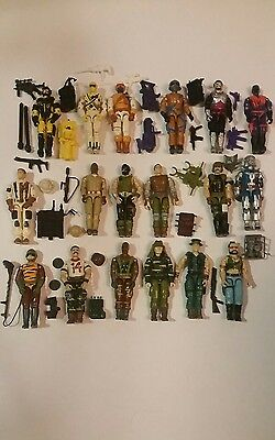 GI Joe lot of 18 Vintage Action Figures and Accessories No Reserve Auction