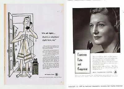 Bell Telephone Print Ads 1955 and 1997