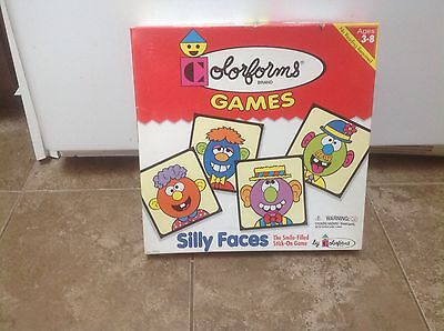Colorforms  Silly Faces Stickons, Pre-School And Collectible Game