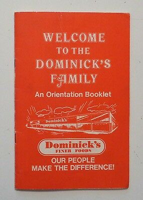 Vintage 1980 Welcome to DOMINICK'S - Employee Orientation CHICAGO GROCERY STORE