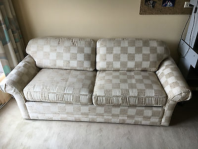 Two-seater sofa bed - VGC - PU 3142