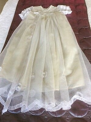 Vintage Handmade Christening Gown approx 70 years old