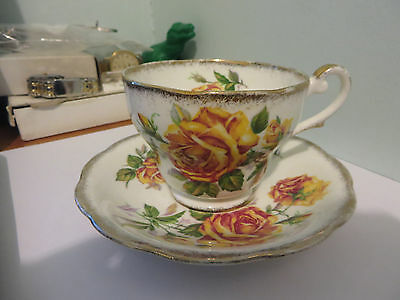 """Royal Standard """"Romany Rose"""" cup and saucer, England"""