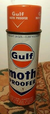 Vintage Gulf Oil Co. Moth Proofer Spray 14 OZS. Can