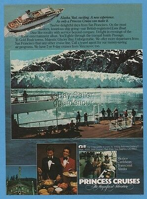 1981 Princess Cruises Cruise Line Alaska Glacier Bay Love Boat Buffet Photo Ad