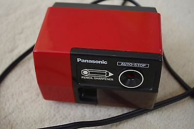 Panasonic Red Electric Pencil Sharpener Kp-123 Auto-Stop Used