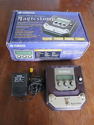 Yamaha MagicStomp UB99 Stereo Multi-Effect Pedal + Box AC Adapter USB Cable