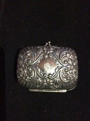 Antique Victorian Silver Plate Sewing Case  Marked Simpson H M & Co 37