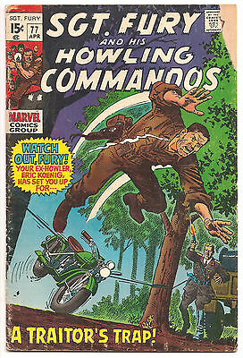 SGT. FURY AND HIS HOWLING COMMANDOS #77  Dick Ayers/Bill Everett
