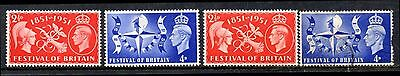 [1185] Great Britain  1951 FESTIVAL OF BRITAIN set MNH & Fine Used
