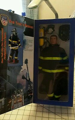 "New 2001 Real Heroes FDNY Fire Zone 9/11 Firefighter Action Figure 12"" New York"