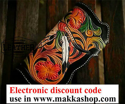 leather tooled wallet electronic DISCOUNT CODE 12% OFF in www.makkashop.com