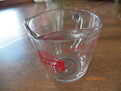 "2 Cup Anchor Hocking Ovenproof Glass Basics Measuring Cup 4-1/2"" Tall"
