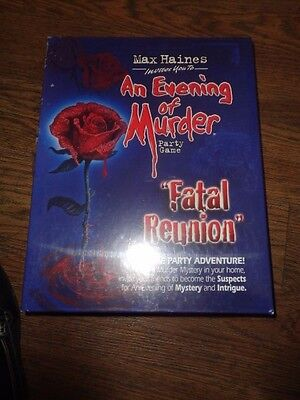 Max Haines An Evening of Murder Party Game - Fatal Reunion - NEW