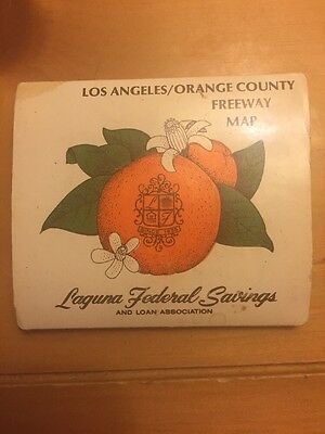 Laguna Federal Savings 1978 Map Of Orange County