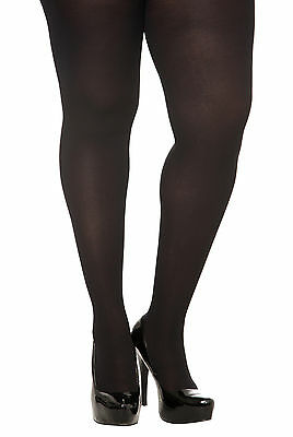 Torrid Woman Plus 3X-4X Size Black Opaque Spandex Tights For Dress Size 20-24