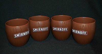 Coconut Smirnoff Set Of Collectable Coconut Cups x 4 Rare