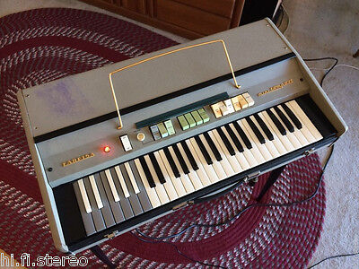 1968 Farfisa Mini Compact Deluxe r3 Vintage Portable Combo Organ +Legs Cover Key