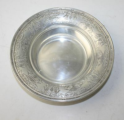 T. S. Co Sterling Silver Bowl with beautiful decorative border.