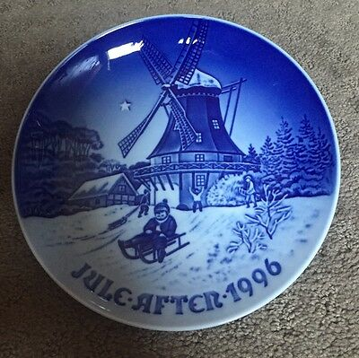 """Bing and Grondahl Christmas Plate - 1996 """"Winter At The Old Mill"""""""