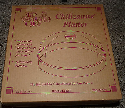 Pampered Chef Chillzanne Platter with Lid...1994  #2780