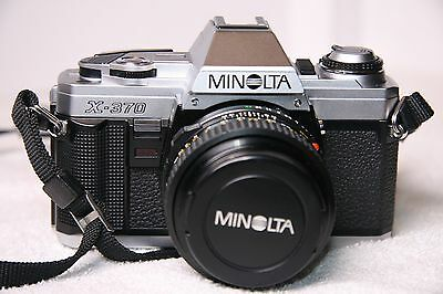 Vintage MINOLTA X-370 35mm SLR Film Camera + 50mm f1.7 MD Lens excel condition