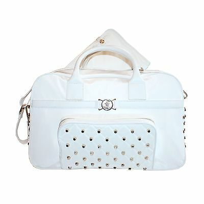 Versace white nappy bag with changing mat
