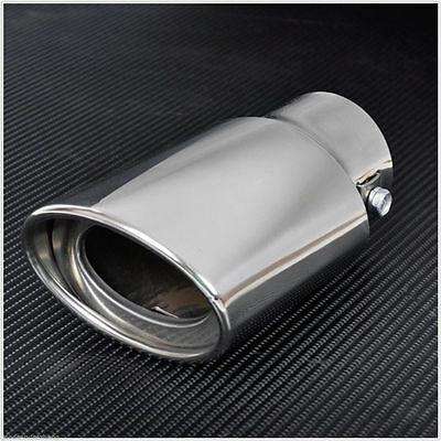 Universal Chrome Stainless Steel Car Rear Round Exhaust Pipe Tail Muffler Tip ab