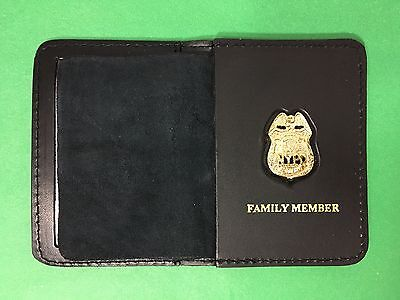 NYPD Sergeant mini badge with family member bi-fold wallet - 2017 NYPD PBA - NYC