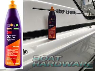 3M™ Perfect-It™ Gelcoat Medium Cutting Compound + WAX 473 ml 36105 Boats RV'