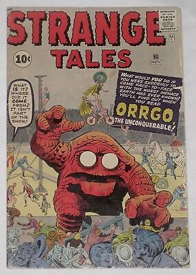 Silver Age STRANGE TALES #90, featuring ORRGO! VG 4.0