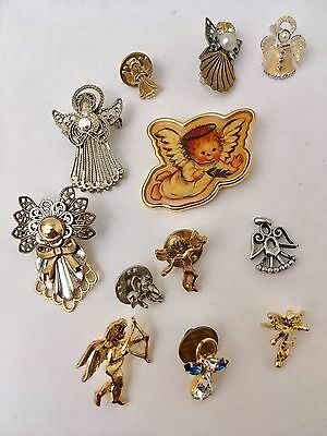 Lot of ANGELS Pins Pendant Religious Christianity Trinkets
