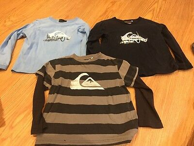 Boys Size 4 Long Sleeved Tops Quiksilver Brand