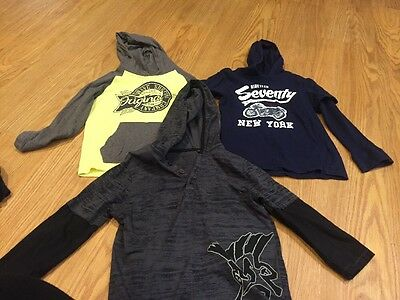 Boys Size 5 Long Sleeve Tops With Hoods