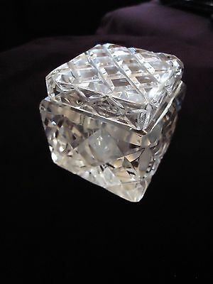 Vintage Lead Crystal Cut Glass Ink Well