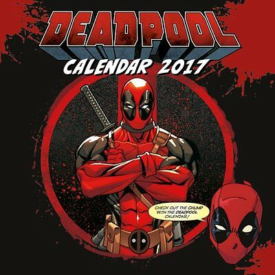 Deadpool - Official 2017 Calendar - Marvel Comics C15041