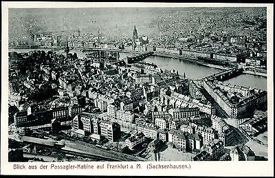 Germany 1918 Airship View From The Passenger Cabin On Frankfurt Rppc Xf Unused