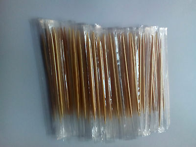100 Individually Wrapped Wooden Toothpicks Ideal For Home Or Catering