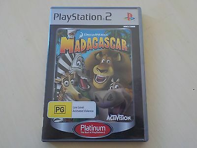 Madagascar Playstation 2 PS2 Game AUS PAL Complete Platinum