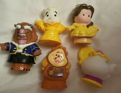 Disney beauty and the beast little people mrs potts lumiere cogsworth Rare