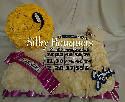 Artificial Silk Funeral Flower Bingo Board Ball Tribute Memorial Mothers Day