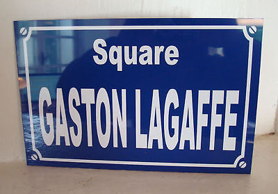 Plaque de rue GASTON  LAGAFFE personnalisation possible  spirou franquin gontran