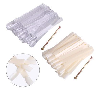 50 PCS False Display Nail Tip Practice Stick Polish Fan Wheel Board Design Tool