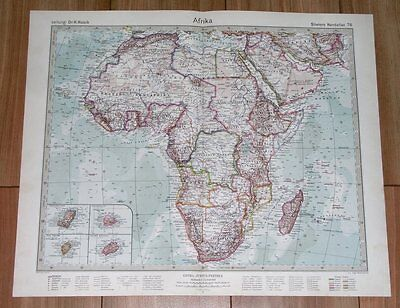 1932 Original Vintage Map Of Africa / French British And Former German Colonies
